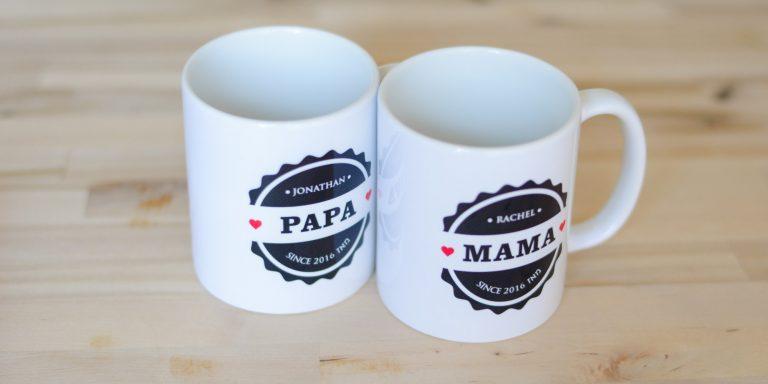 New mom, New dad, Personalized, Jewish gift Mugs