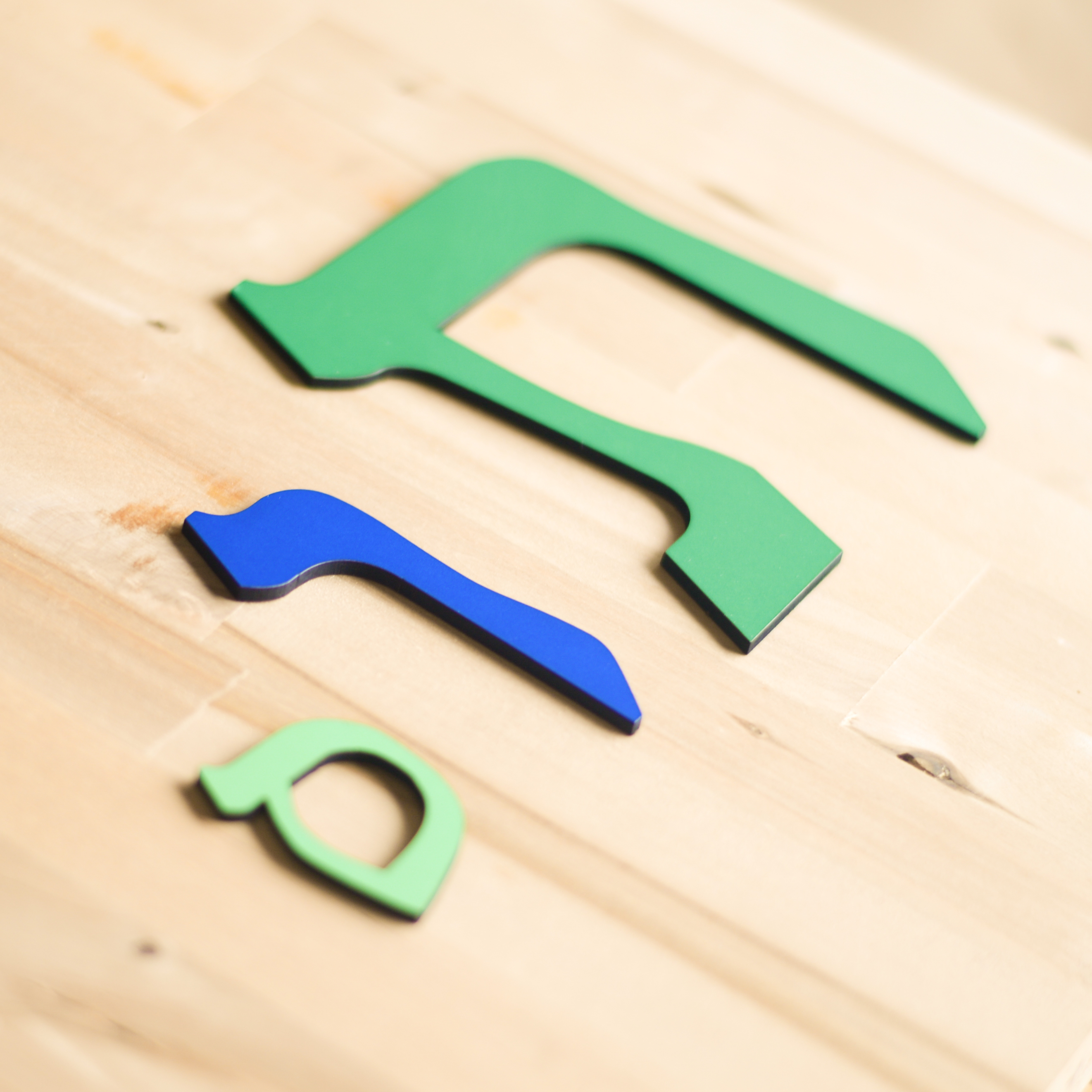 Wooden Hebrew Letters, mix and match the colors, jewish baby gifts, by isralove