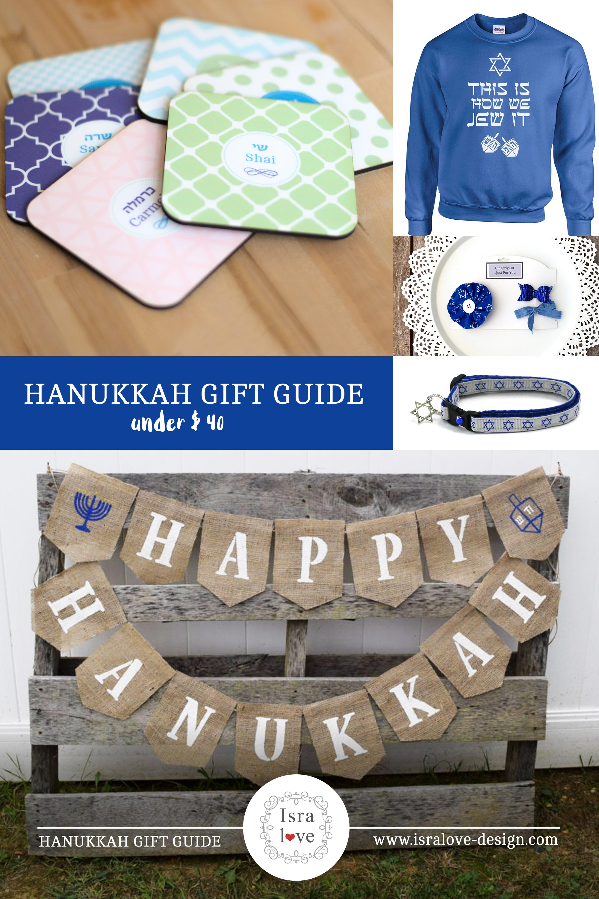 The ultimate Hanukkah gift guide for everyone in the family - including pets. The Jewish festival of lights, Dreidel, Latkes, Chanukah, Chanukkah, Modern Jewish gifts