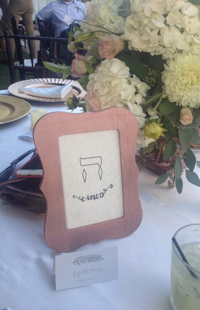 Jewish Wedding - Table Numbers